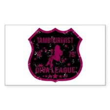 Tambourinist Diva League Rectangle Stickers