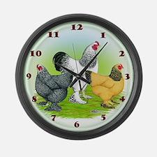 Assorted Brahma Fowl Large Wall Clock