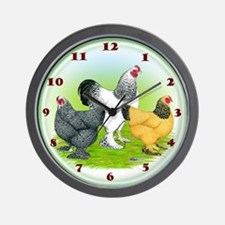 Assorted Brahma Fowl Wall Clock