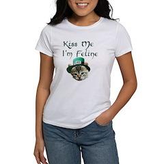 Kiss Me I'm Feline Women's T-Shirt