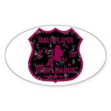 Tabla Player Diva League Oval Stickers