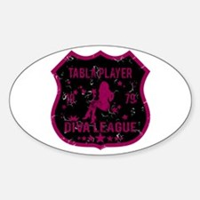 Tabla Player Diva League Oval Stickers