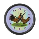 Brabanter Chickens Large Wall Clock
