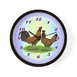 Brabanter Chickens Wall Clock