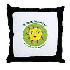 Unique Barefoot Throw Pillow