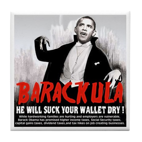 Obama Blood Sucking Socialist Tile Coaster