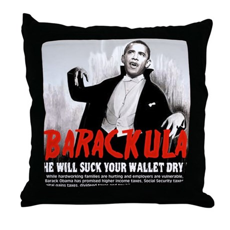 Obama Blood Sucking Socialist Throw Pillow