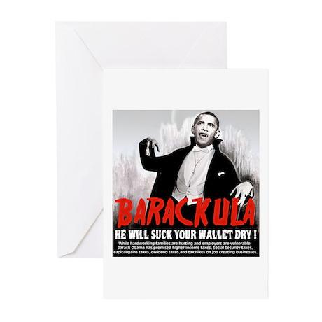 Obama Blood Sucking Socialist Greeting Cards (Pk o