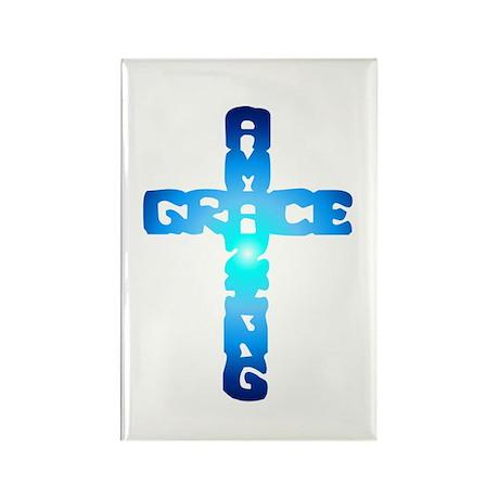 Amazing Grace Cross Rectangle Magnet (100 pack)