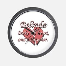 Belinda broke my heart and I hate her Wall Clock