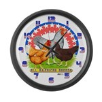 All American Chickens Large Wall Clock