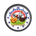 All American Chickens Wall Clock