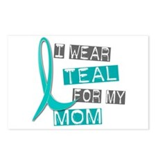I Wear Teal For My Mom 37 Postcards (Package of 8)
