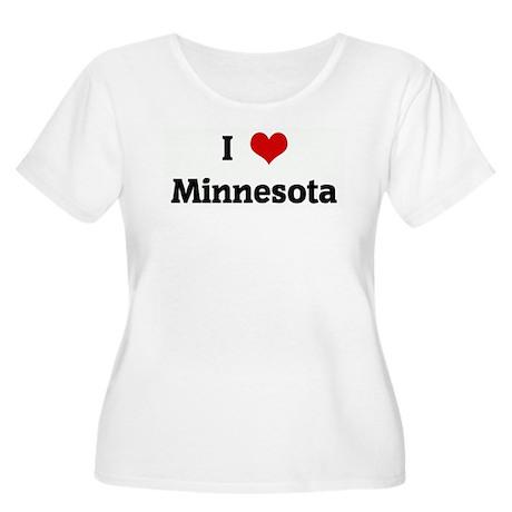 I Love Minnesota Women's Plus Size Scoop Neck T-Sh