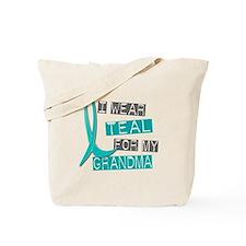 I Wear Teal For My Grandma 37 Tote Bag