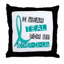 I Wear Teal For My Mother-In-Law 37 Throw Pillow