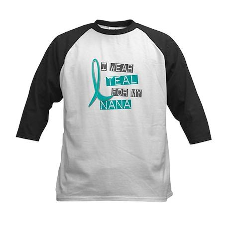 I Wear Teal For My Nana 37 Kids Baseball Jersey