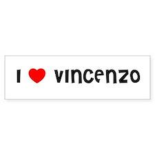 I LOVE VINCENZO Bumper Car Sticker