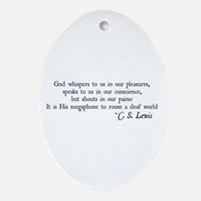 God Shouts in our Pain Oval Ornament