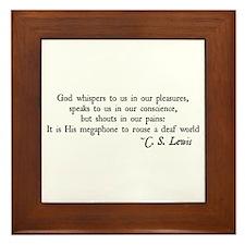 God Shouts in our Pain Framed Tile
