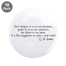 """God Shouts in our Pain 3.5"""" Button (10 pack)"""