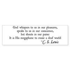 God Shouts in our Pain Bumper Bumper Sticker