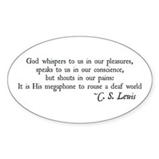 God Shouts in our Pain Oval Decal