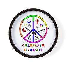 Celebrate Diversity Wall Clock