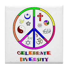 Celebrate Diversity Tile Coaster