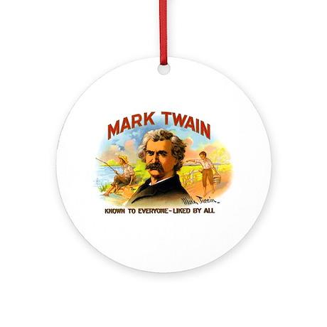 Mark Twain Ornament (Round)