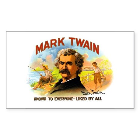 Mark Twain Rectangle Sticker