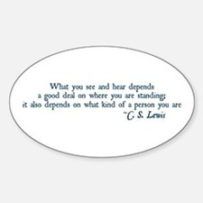 What You See and Hear Oval Decal