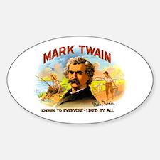Mark Twain Oval Decal