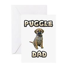 Puggle Dad Greeting Card