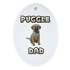 Puggle Dad Ornament (Oval)