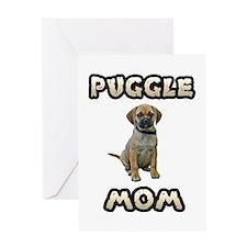 Puggle Mom Greeting Card