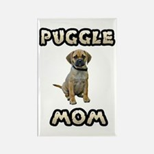Puggle Mom Rectangle Magnet