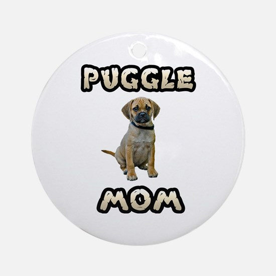 Puggle Mom Ornament (Round)