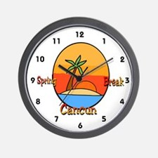 Spring Break Cancun Wall Clock