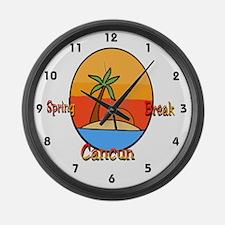 Spring Break Cancun Large Wall Clock