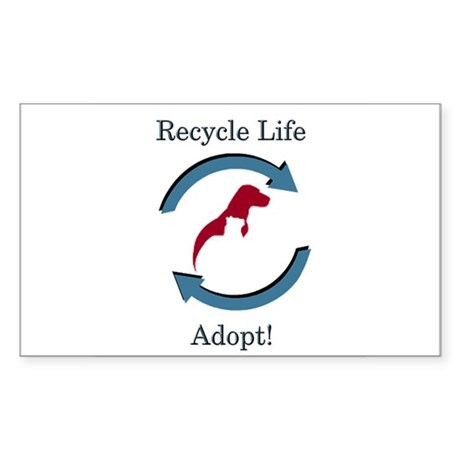 Recycle Life - Rectangle Sticker