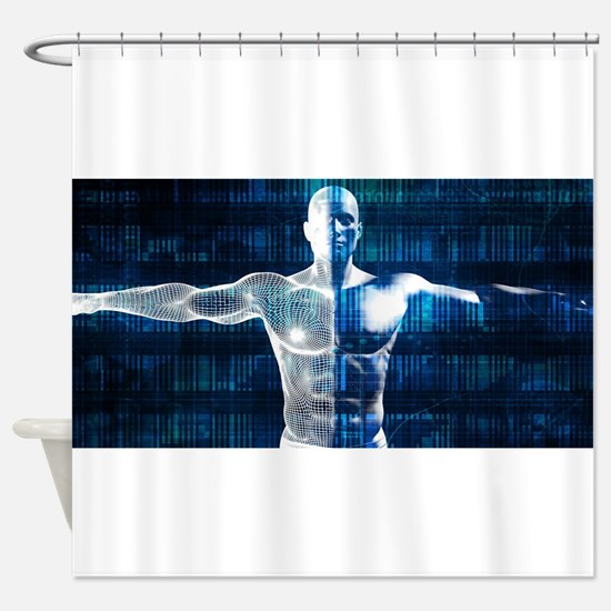 Technology Network Over the Interne Shower Curtain