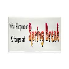 Spring Break What Happens Rectangle Magnet