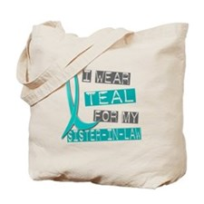 I Wear Teal For My Sister-In-Law 37 Tote Bag