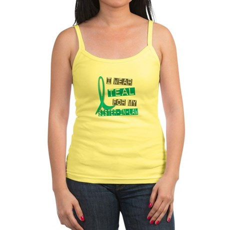 I Wear Teal For My Sister-In-Law 37 Jr. Spaghetti