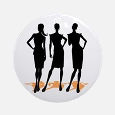 Fashion Girls Ornament (Round)