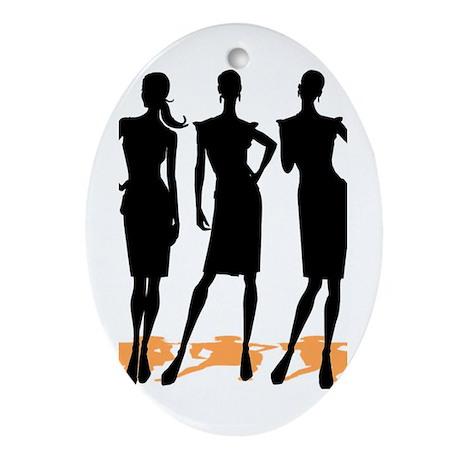 Fashion Girls Oval Ornament