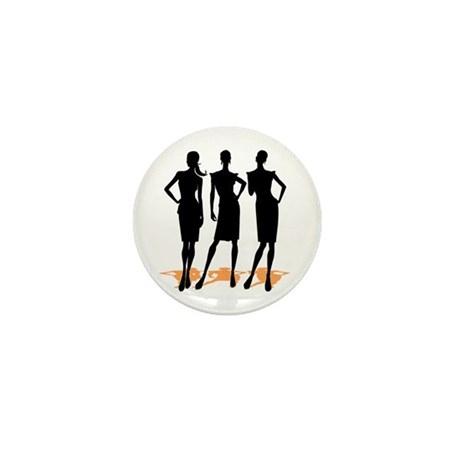 Fashion Girls Mini Button (10 pack)