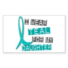 I Wear Teal For My Daughter 37 Rectangle Decal