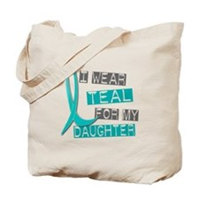I Wear Teal For My Daughter 37 Tote Bag